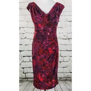 LAUREN RL Ruched Waist Jersey Dress